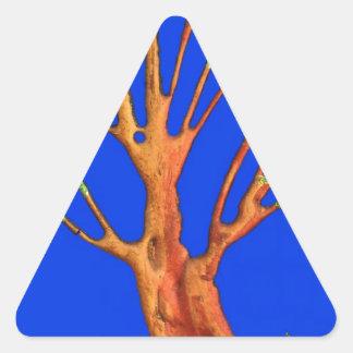 Árbol del acacia del verde azul de Hakuna Matata Pegatinas De Trianguladas
