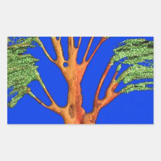 Árbol del acacia del verde azul de Hakuna Matata Rectangular Altavoz