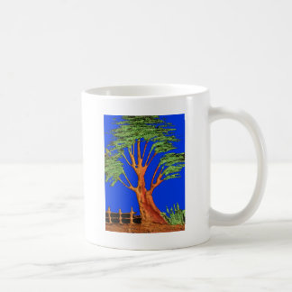 Árbol del acacia del verde azul de Hakuna Matata Taza Clásica