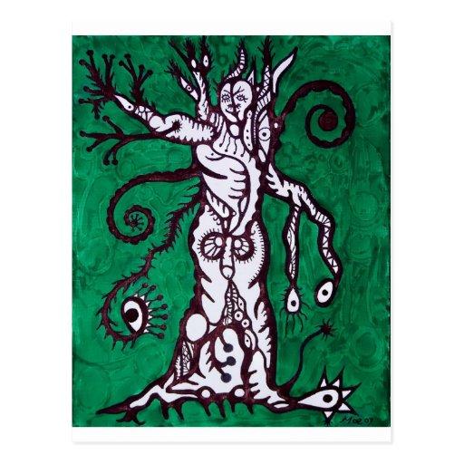 árbol del alcohol tarjetas postales