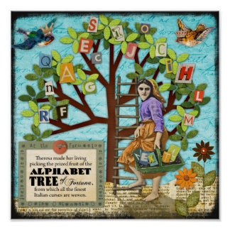 Árbol del alfabeto de Fortuna Posters