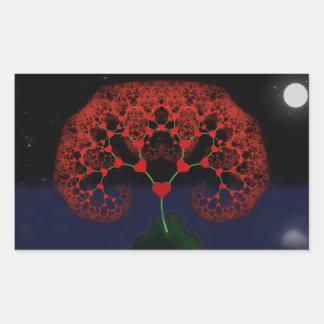 Árbol del amor con el pegatina del claro de luna