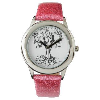 Árbol del amor de la vida separado relojes