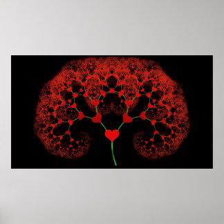 Árbol del amor - fractal del corazón impresiones