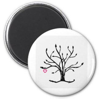 Árbol del amor imán redondo 5 cm