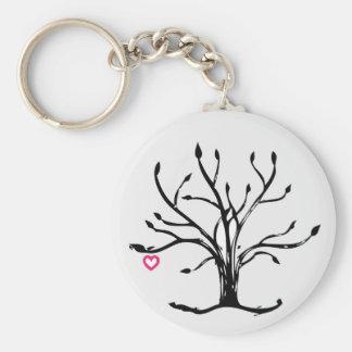 Árbol del amor llavero redondo tipo pin