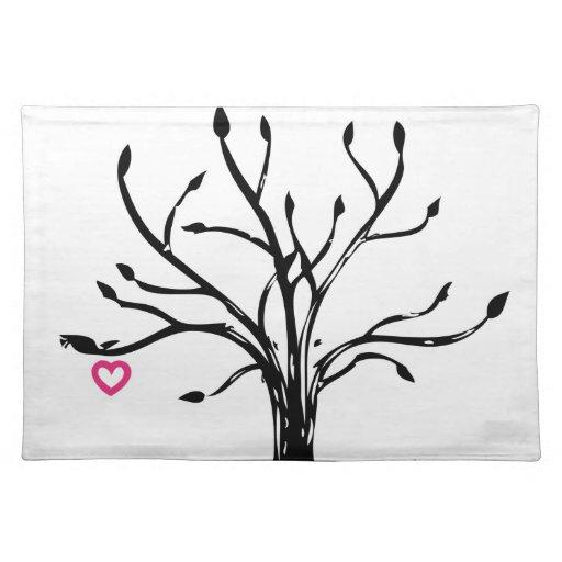 Árbol del amor manteles individuales