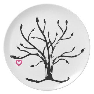 Árbol del amor platos de comidas