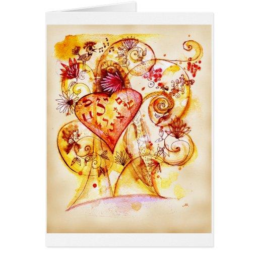 Árbol del amor tarjeta de felicitación