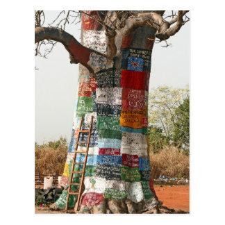 Árbol del anuncio tarjeta postal