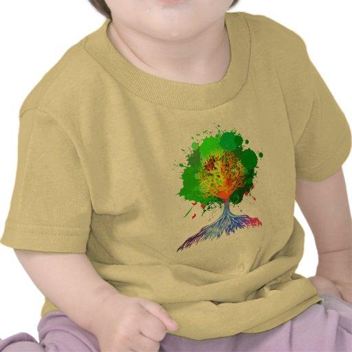 Árbol del arco iris de la vida camisetas
