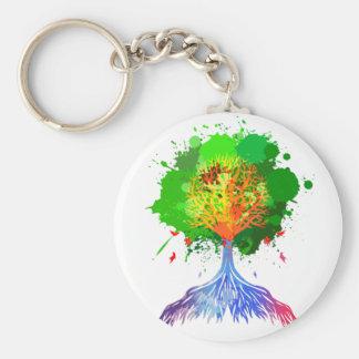 Árbol del arco iris de la vida llaveros
