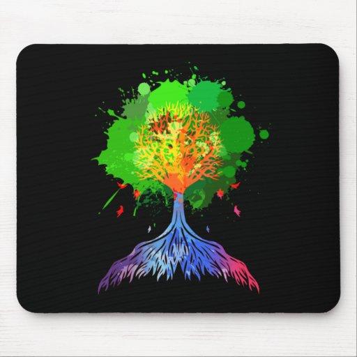 Árbol del arco iris de la vida mousepad