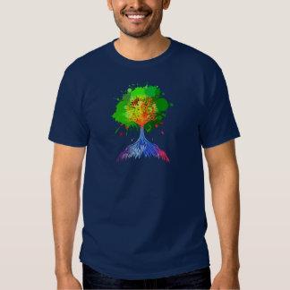 Árbol del arco iris de la vida playeras