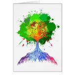 Árbol del arco iris de la vida tarjeton