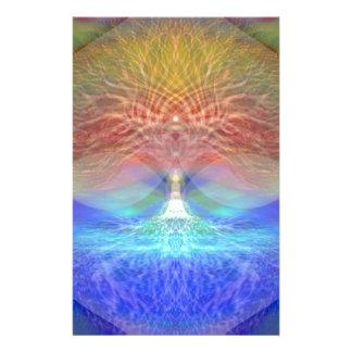 Árbol del arco iris del corazón de la vida  papeleria de diseño