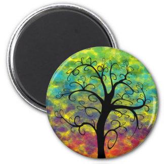 Árbol del arco iris del imán de la luna de la vida