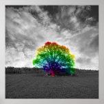 Árbol del arco iris impresiones