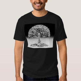 Árbol del arrecife de coral de la vida blanco y polera