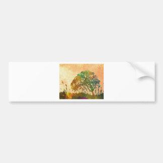 árbol del arte abstracto pegatina para auto