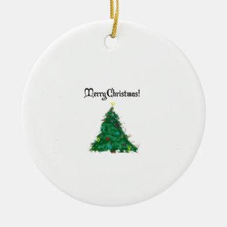 Árbol del arte moderno de las Felices Navidad Adorno Navideño Redondo De Cerámica