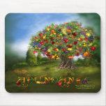 Árbol del arte Mousepad de la abundancia Tapete De Ratones
