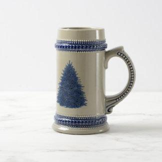 Árbol del azul del zafiro jarra de cerveza
