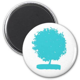 Árbol del azul MaA005 Imán Redondo 5 Cm