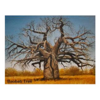 Árbol del baobab de la postal