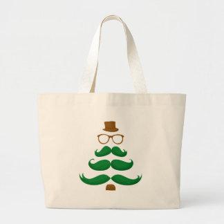 Árbol del bigote del navidad bolsa tela grande