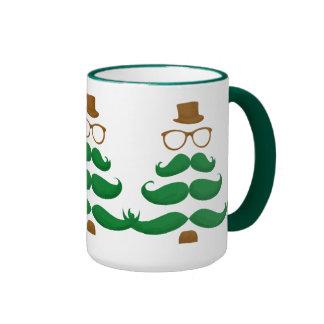 Árbol del bigote del navidad - taza