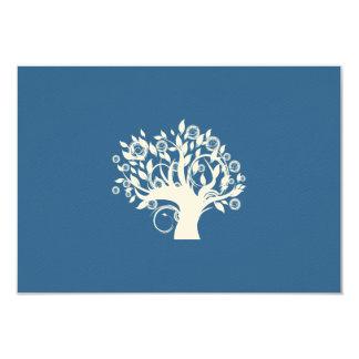 """Árbol del boda judío hebreo RSVP de la vida Invitación 3.5"""" X 5"""""""
