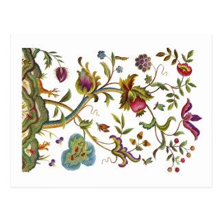 Árbol del bordado jacobeo de la vida tarjetas postales