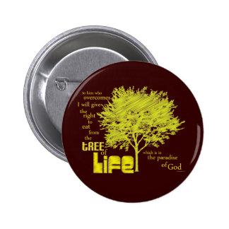 Árbol del botón/de la insignia cristianos de la es pin redondo 5 cm