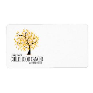 Árbol del cáncer de la niñez etiqueta de envío
