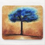 Árbol del caramelo de algodón Mousepad (azul) Tapetes De Ratón