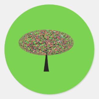 Árbol del caramelo pegatina redonda