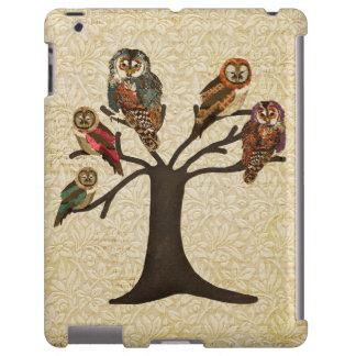 Árbol del caso del iPad de los búhos Funda Para iPad