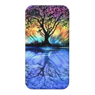 Árbol del caso del iPhone 4 de la vida iPhone 4 Cárcasas