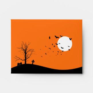 Árbol del cementerio A2 y sobres de Halloween de