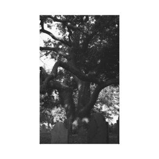 Árbol del cementerio impresiones de lienzo