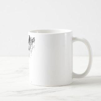 Árbol del chirrido taza de café