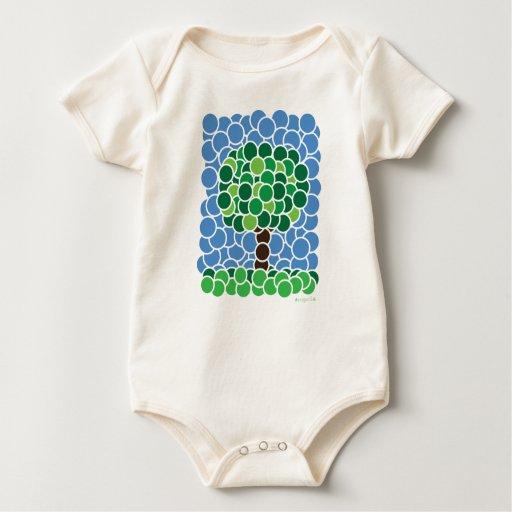 Árbol del círculo trajes de bebé