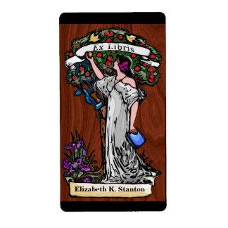 Árbol del conocimiento Bookplate personalizado Etiquetas De Envío