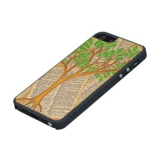 ÁRBOL DEL CONOCIMIENTO FUNDA DE ARCE CARVED® PARA iPhone 5