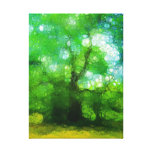 Árbol del conocimiento lienzo envuelto para galerias
