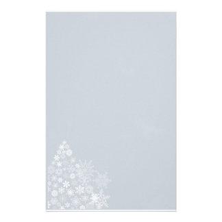Árbol del copo de nieve inmóvil papeleria de diseño