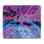 Árbol del corazón de la vida en púrpura y azul tablas para cortar