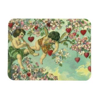 Árbol del corazón de los Cupids del día de San Imanes Rectangulares