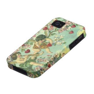 Árbol del corazón de los Cupids del Victorian del iPhone 4 Carcasa